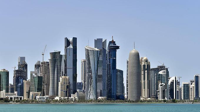 Die Skyline von Doha, der Hauptstadt Katars.