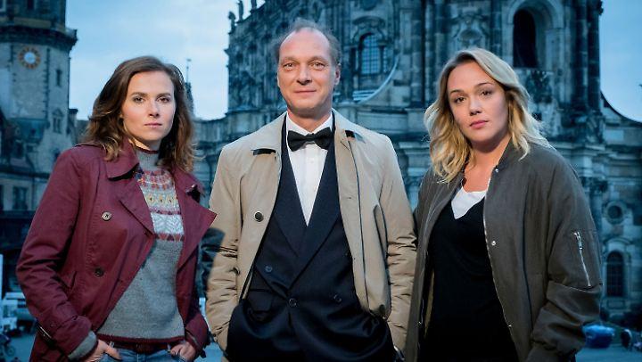 Das Dresdner Ermittler-Trio Gorniak, Schnabel und Sieland.