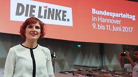 Katja Kipping hatte vor dem Parteitag schon gesagt, dass sie sich eine rot-rot-grüne Koalition vorstellen kann.