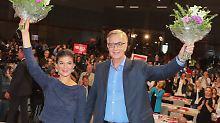 Die Spitzenkandidaten der Linken Sahra Wagenknecht  und Dietmar Bartsch.