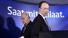 Finnen-Partei meutert gegen Chef: Abspaltung von Rechtspartei rettet Regierung