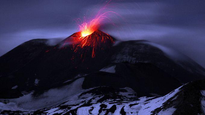 Wenn Magma auf Eis trifft: Der Ausbruch des Ätna im März 2017 löste eine gefährliche Kettenreaktion aus.