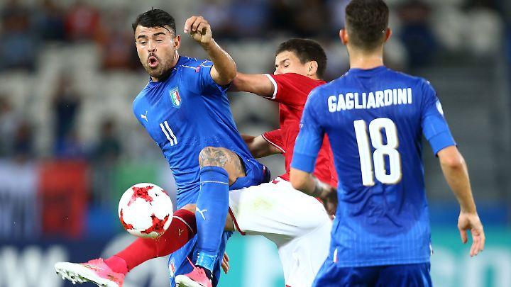 Andrea Petagna besiegelte den Auftaktsieg seiner itlaienischen U21 gegen Dänemark bei der EM in Polen.