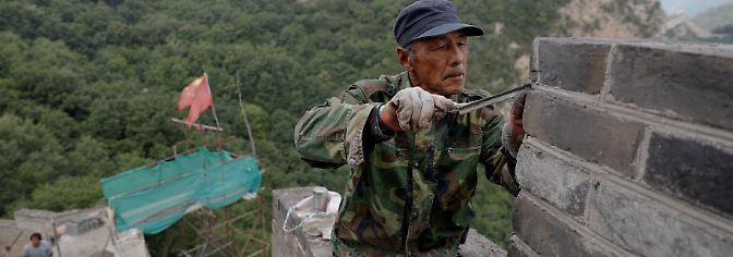 Wiederaufbau eines Weltwunders: Chinesen reparieren ihre Mauer