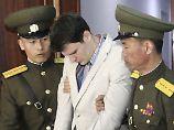 Otto Warmbier bei seinem Prozess Anfang 2016: Nordkorea behandelt seine ausländischen Häftlinge normalerweise vergleichsweise gut.