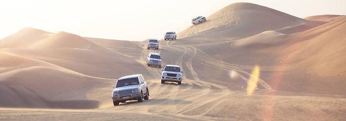 Auf Safari im Sand von Dubai: Wüstentrip gibt Adrenalin-Kick