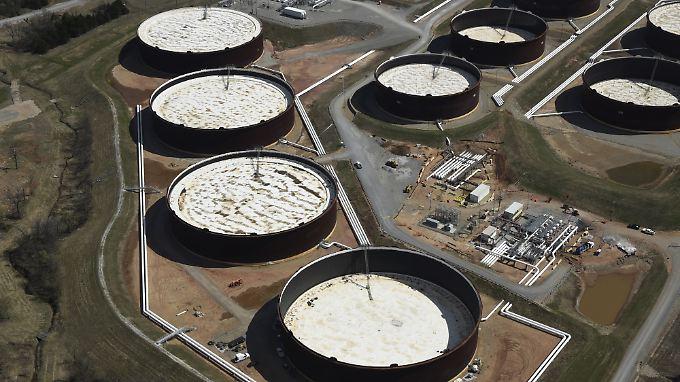 Lagerstätten für amerikanisches Leichtöl in Oklahoma.