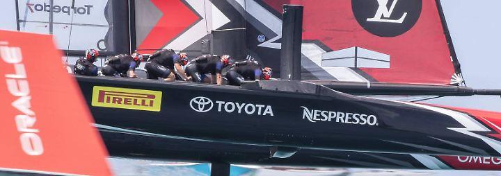Beim Team Neuseeland sorgen Radfahrer für Furore beim America's Cup.