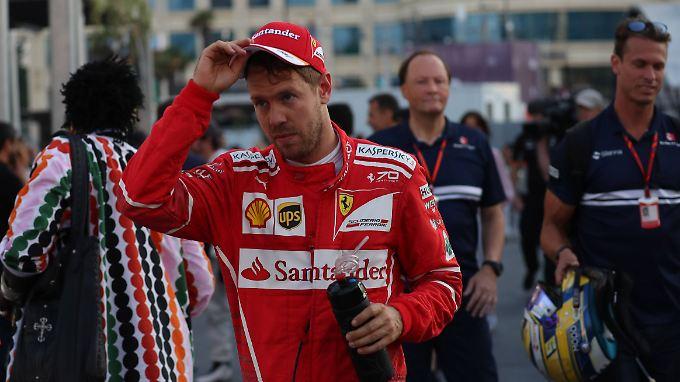 Sein legendärer Ausraster in Baku nagt immer noch an Sebastian Vettel.
