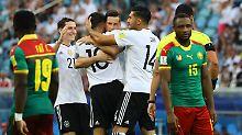 Nervös gegen Kamerun: Löws Beach Boys greifen nach den Sternen