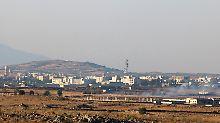 Kämpfe an den Golanhöhen: Israel feuert Raketen auf Syrien