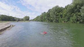 Pendeln mal anders: Münchner schwimmt täglich durch die Isar zur Arbeit