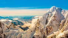 Der Gipfel des 6190 Meter hohen Denali in Alaska. Er ist der höchste Berg Nordamerikas.