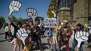 Von kreativ bis radikal: Polizei und Aktivisten sind bereit für G20