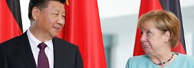"""Angela Merkel sieht im Treffen mit Xi Jinping eine """"gute Gelegenheit"""", die Beziehungen zu vertiefen."""