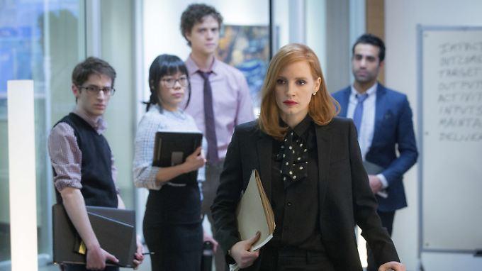Wechselt mit ihrem Team in dem Film die Seiten: Elizabeth Sloane (Jessica Chastain).