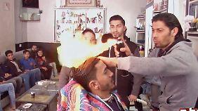Feuriger Friseur, Häuser aus Schutt: Not in Gaza macht erfinderisch
