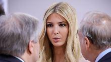 US-Präsident Trump nutzte die Gelegenheit, seiner Tochter Ivanka Komplimente zu machen.