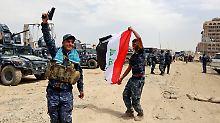 """Stadt unter Kontrolle der Armee: Irak meldet """"Sieg"""" über IS in Mossul"""