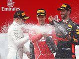 Formel-1-Pilot Hamilton Vierter: Bottas hängt Vettel ab und fährt zum Sieg