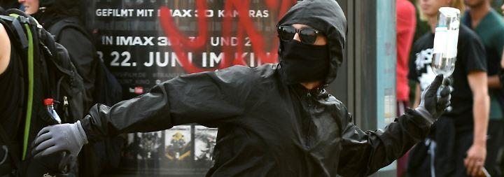 Mitläufer und Chaostouristen: Wer sind die Randalierer von Hamburg?