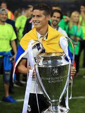 Ersatzmann, aber Champions-League-Sieger: James Rodríguez