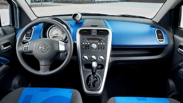Außer Farbe bietet der Opel Agila B nicht viel.