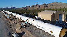 """""""Erster Großversuch des Systems"""": Hyperloop besteht weiteren Test"""