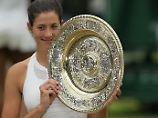 Garbiñe Muguruza krönt ein herausragendes Wimbledon-Turnier mit ihrem ersten Titel auf dem heiligen Tennisrasen.