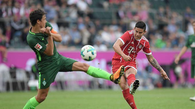 Kam, sah und siegte, traf aber noch nicht: James Rodriguez beim FC Bayern.