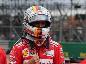 Schwacher Trost: Einen Zähler Vorsprung konnte Vettel in der WM-Wertung retten.