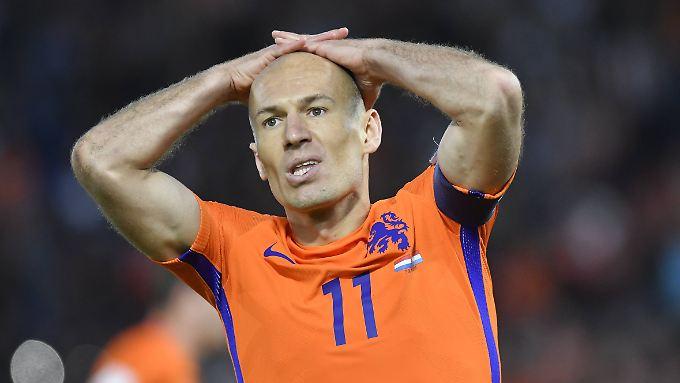 Robben und Co. müssen um die WM 2018 bangen.