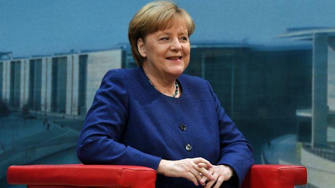 Angela Merkel am Sonntag im ARD-Interview