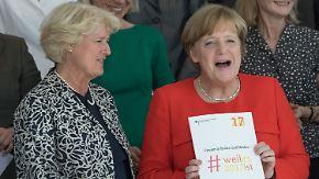 CSU gezähmt, Schulz geschrumpft: Geburtstagskind Merkel hat allen Grund zu strahlen
