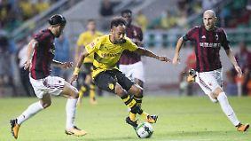 Nach Wechseltheater: Aubameyang glänzt bei BVB-Test gegen AC Mailand