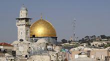 Polizei reagiert auf Unruhen: Israel schließt Tempelberg für Touristen