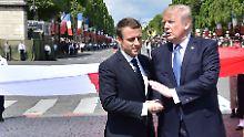 """Trump über Macron: """"Er liebt es, meine Hand zu halten"""""""