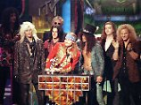"Guns N'Roses bei der Verleihung des ""Michael Jackson Video Vanguard Awards"" für ""November Rain"" bei den the MTV Video Music Awards 1992."