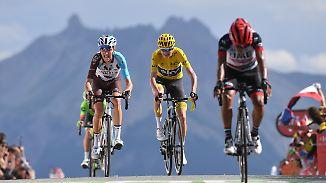 18. Etappe der Tour de France: Gesamtführende liefern sich erbitterte Bergschlacht