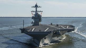"Trump über neuen Flugzeugträger: USA würden Kampf ""gewinnen, gewinnen, gewinnen"""