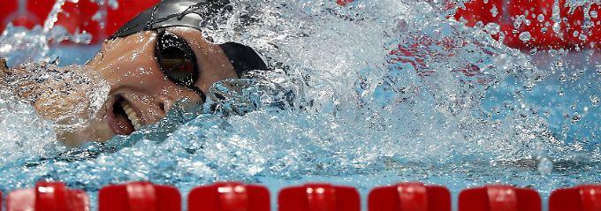 Rekord-Gold und Weltrekord-Hagel: Ledecky schwimmt auf anderen Planeten