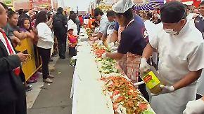 Kaum zu glauben, aber wahr: Mexiko-City belegt Mega-Sandwich