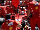 Sebastian Vettel rast im Training allen davon.