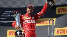 """Formel-1-Thriller in Ungarn: """"Bodyguard"""" bringt Vettel auf """"Wolke sieben"""""""