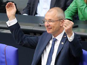 Volker Beck am 30. Juni 2017 im Bundestag - bei der Verkündung des Ergebnisses der Abstimmung über die Ehe für alle.