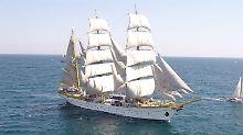 """Der rumänische Großsegler """"Mircea"""" wurde wie die """"Gorch Fock"""" von der Werft Blohm & Voss gebaut."""