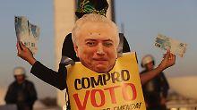 Parlament lehnt Anklage ab: Brasiliens Präsident Temer bleibt im Amt