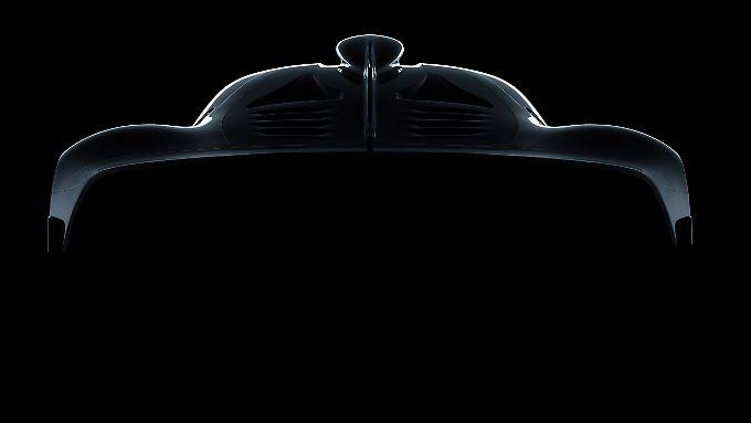 Mehr als die Silhouette hat  AMG von seinem Project One bisher nicht gezeigt.
