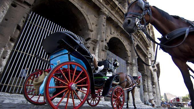 Wer in Rom noch Kutsche fahren will, muss sich beeilen.