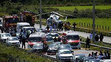 Verfolgungsjagd auf der Autobahn: Autoattacke bei Paris: Verdächtiger gefasst